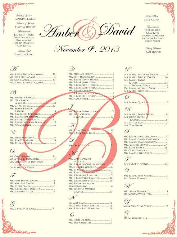 Personalized Wedding Seating Chart//elegant wedding seating chart on Etsy, $50.00