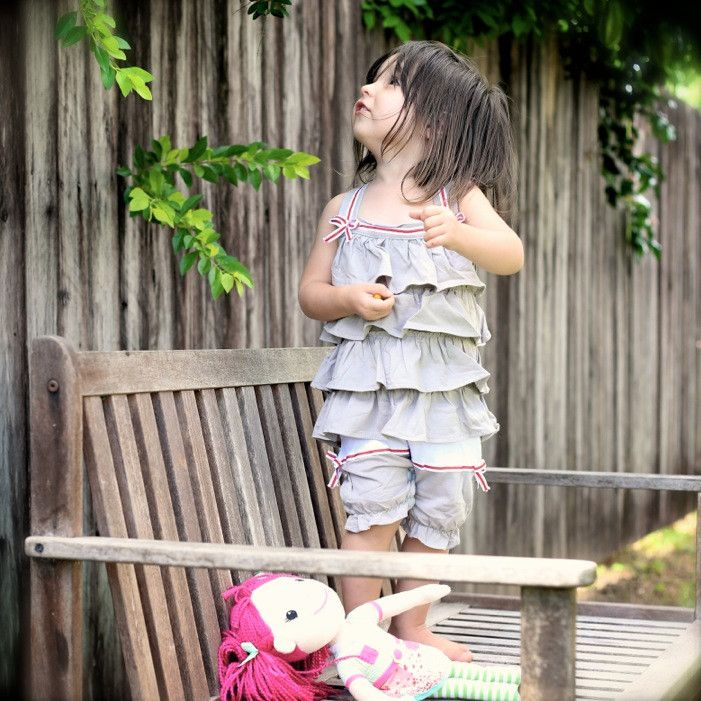Ruffle Cotton Playsuit from Babe &. Co Vintage items for babies, boys and girls. Based in Australia www.babeandco.com.au  - like on Facebook https://www.facebook.com/babeandco  to join in competitions, sales and more or sign up to our newsletter on the website.