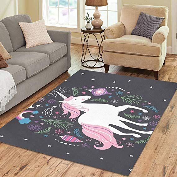 Area Rug 7\'x5\' Unicorn Carpet for Living Room Bedroom ...