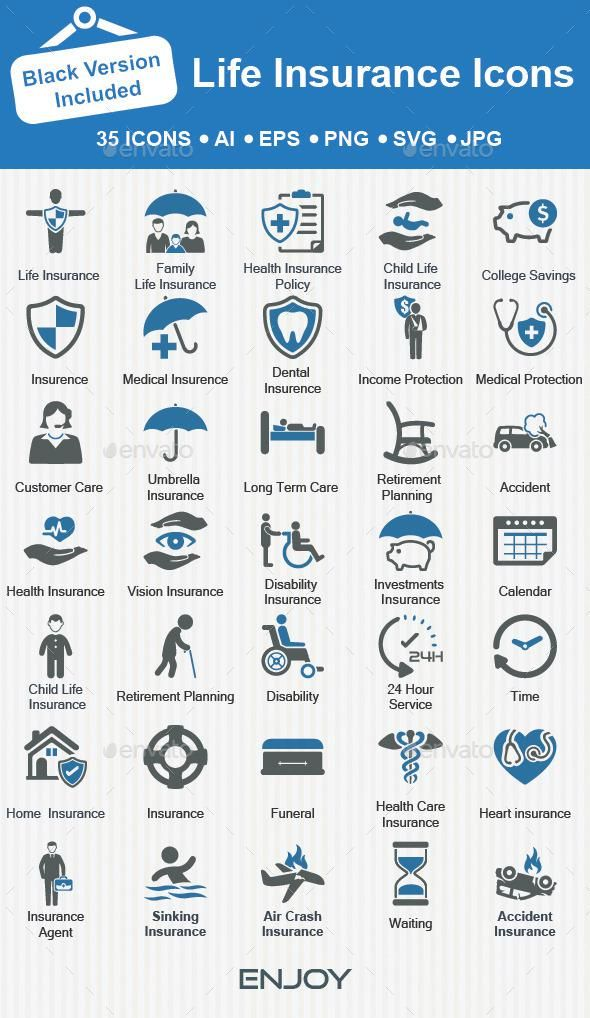 Life Insurance Icons Life Insurance Marketing Life Insurance