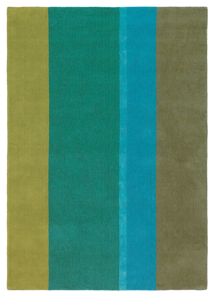Mexx Flavour Green and Blue Stripe Rug