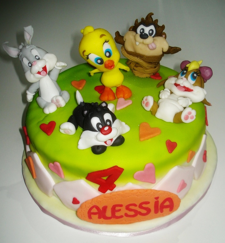 Baby looney tunes cake lovely cakes pinterest for Baby looney tune decoration