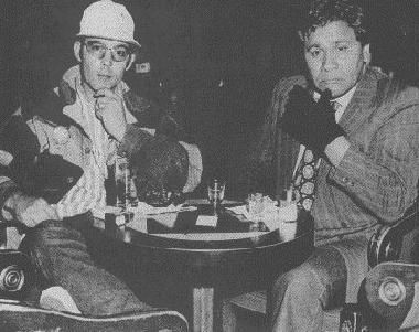 Hunter S. Thompson and his attorney Oscar Acosta