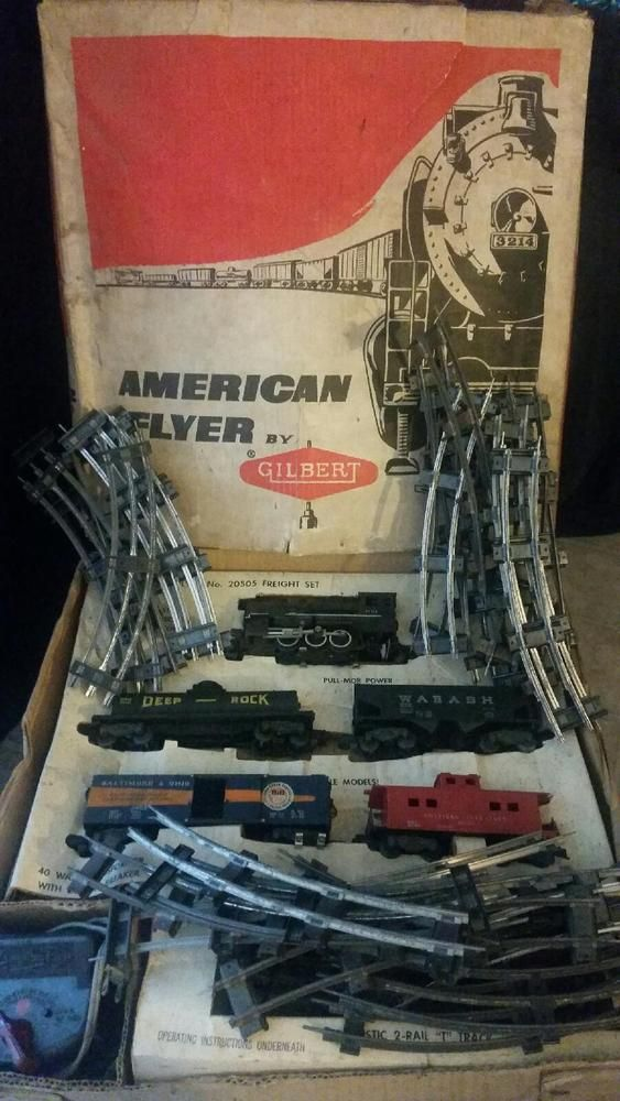 1958-1959 Antique American Flyer No.20505 Complete Train set with extra tracks #AmericanFlyer