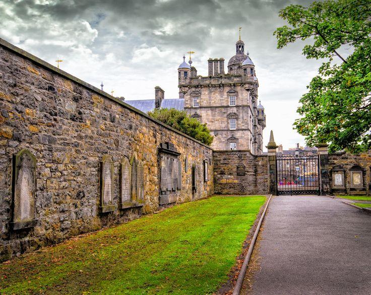 Greyfriars Tollbooth & Highland Kirk looking towards George Heriots School, Edinburgh