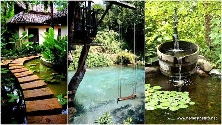 19 simply breathtaking backyard pond designs to for Easy backyard pond