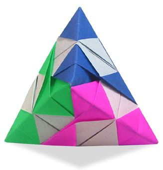 Origami Check Dipyramid instructions