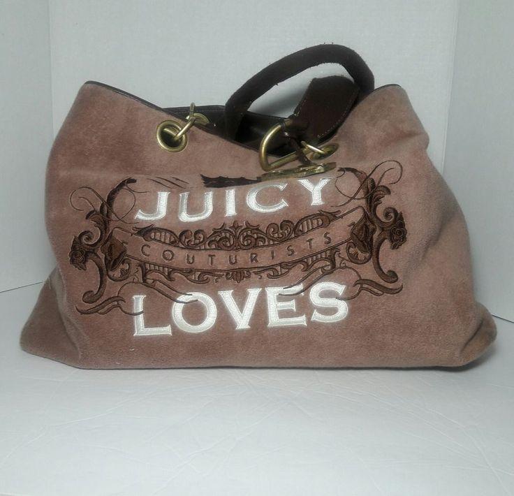 Juicy Couture Handbag Pocketbook Purse Brown Diaper Overnight Travel Bag Cotton #JuicyCouture #ShoulderBagbutcanbeusedhoweveryouchoose