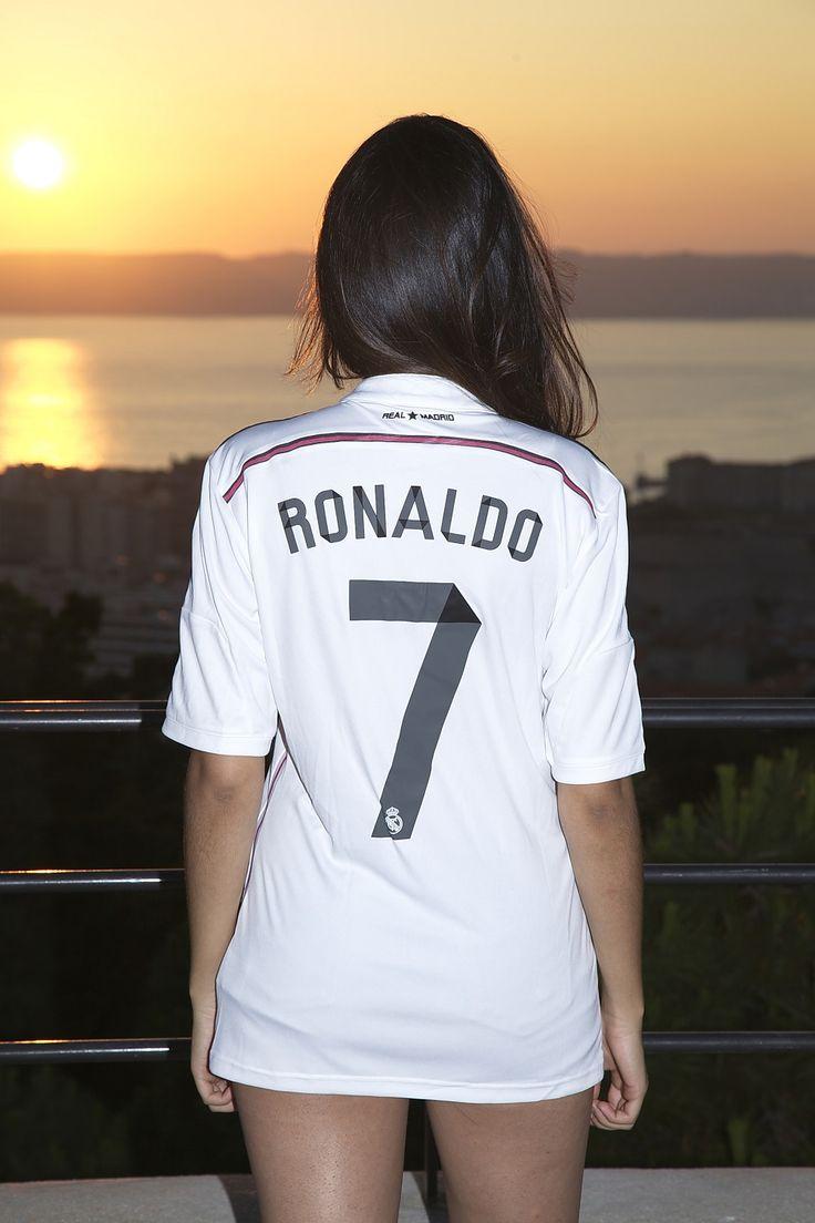 Sunshine girl - Real Madrid girl - Ronaldo 7 at sunset. Ready to roll! Ronaldo girl fires it all up.