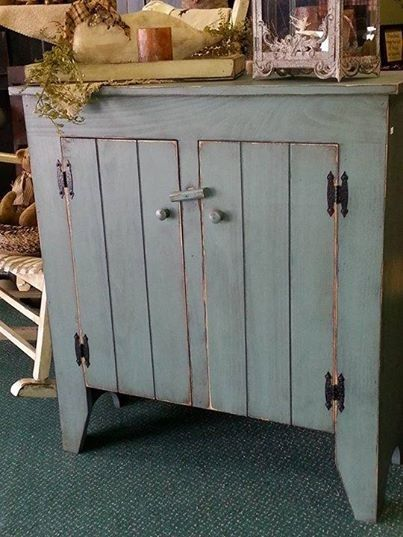 This Cabinet By Wink Is Done In Old Village Paint Color