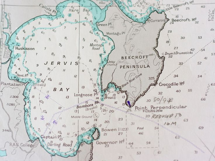 vintage nautical chart of Sydney to Jervis Bay | Coastal ...