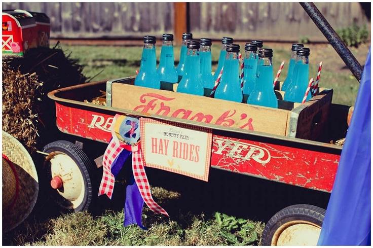 wagon drink display
