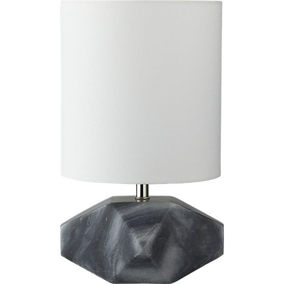 chamfer marble table lamp | CB2