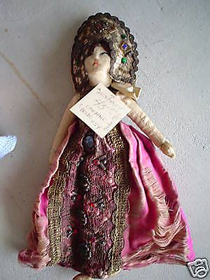 Unique Vintage 1910s Cloth Ukraine Bride Doll LOOK