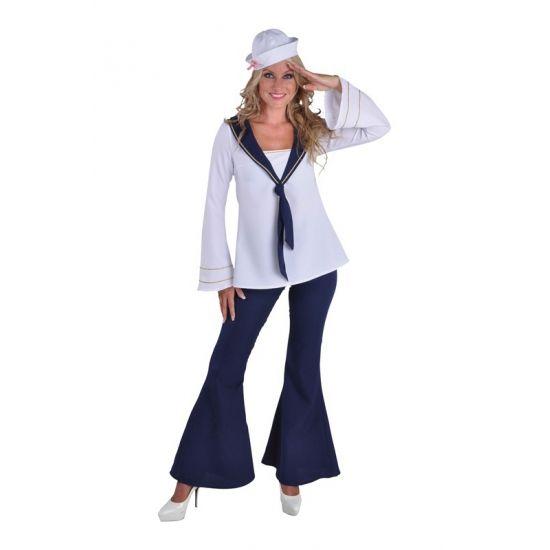 Matrozen kostuum voor dames  Matroos kostuum voor dames. Mooi matrozen pak voor dames bestaande uit de broek en de blouse. Voor leuke matroos accessoires kunt u ook in deze webshop terecht!  EUR 44.95  Meer informatie
