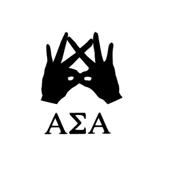Alpha Sigma Alpha Throw What You Know Sorority Decal, I have FINALLY found a shop that carries this exact ASA sign. So hard to find anywhere else!