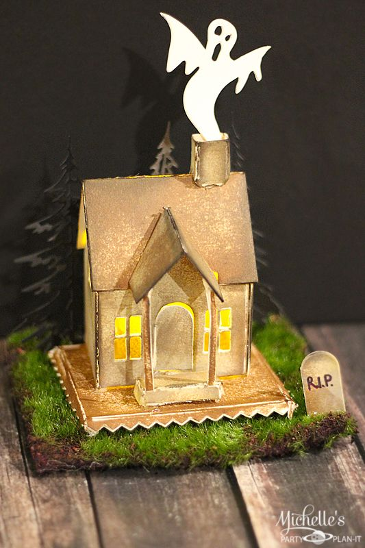 381 best halloween town images on pinterest halloween for How to make a cardboard haunted house