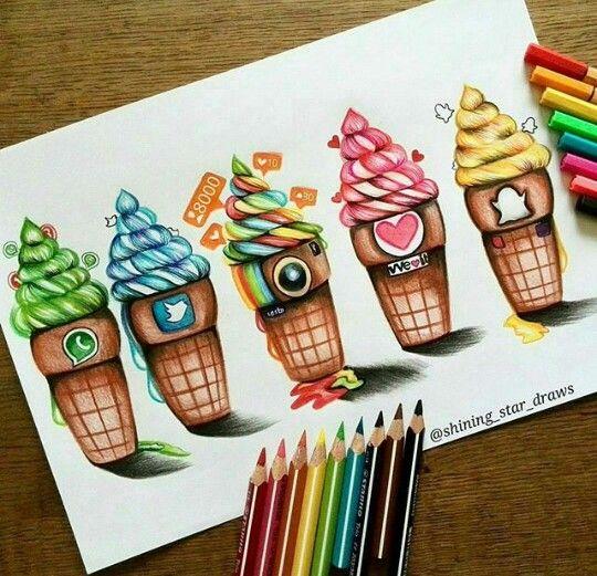 Social media ice cream