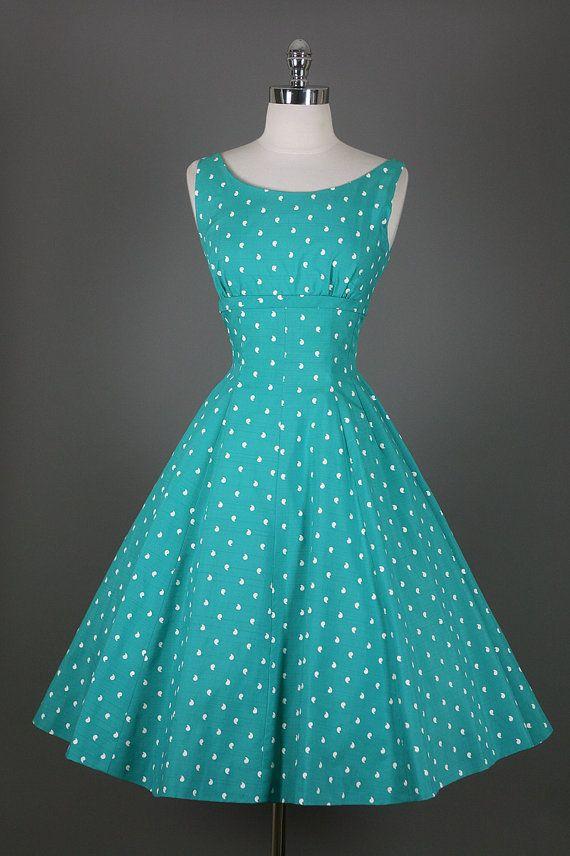 1950s dress with polka dots. I love polka dots!