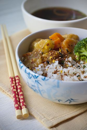Japanese Curry Rice Breakfast