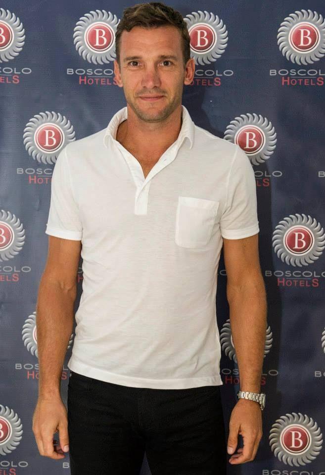 Andriy Shevchenko @BoscoloExedraRoma  #celebrities #BoscoloHotels #matchforpeace