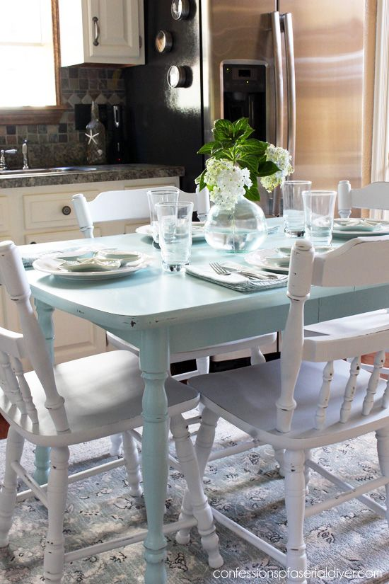 How To Paint A Laminate Kitchen Table From Confessions Of