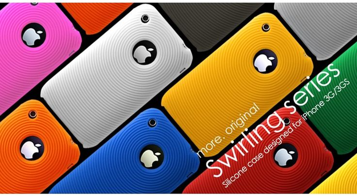 Swirling Series Silicone Case for iPhone 3G/3GS