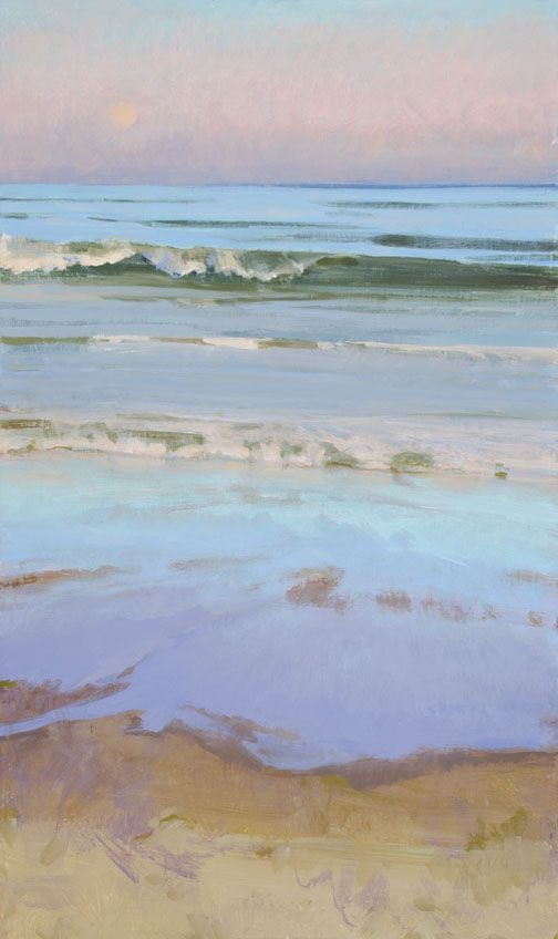 Marcia Burtt Late Sun, Moonrise acrylic 30×18 inches no. 1120603 To inquire about this painting, please contact Tree's Place Gallery Route 6A @ 28 Orleans, MA 508.255.1330