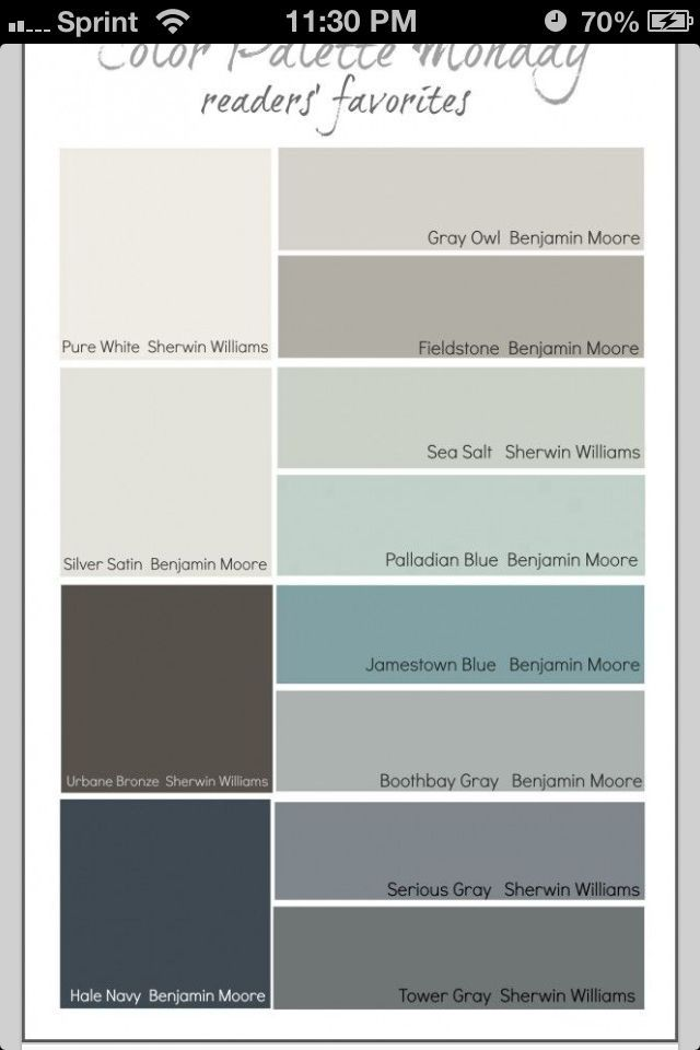 boothbay gray - wall Jamestown Blue- accents Urbane Bronze- couch