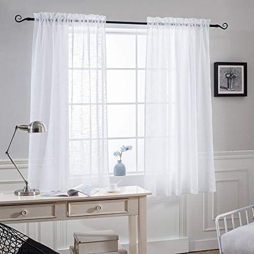 Black Lace Curtains 45 Inch Length In 2020 Small Window Curtains