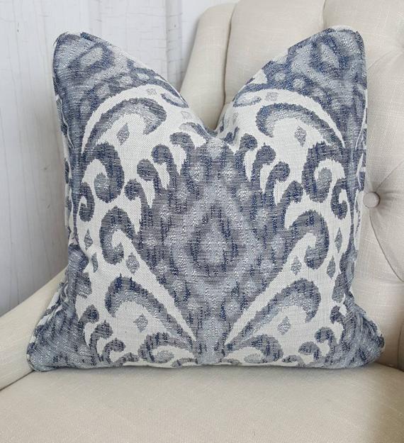 ONE Zipper pillow cover Gray Farmhouse pillow cover striped pillow cover Euro Shams Decorative Pillow Throw pillow lumbar 24x24 26x26