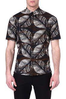 D SQUARED Floral-print short-sleeved shirt