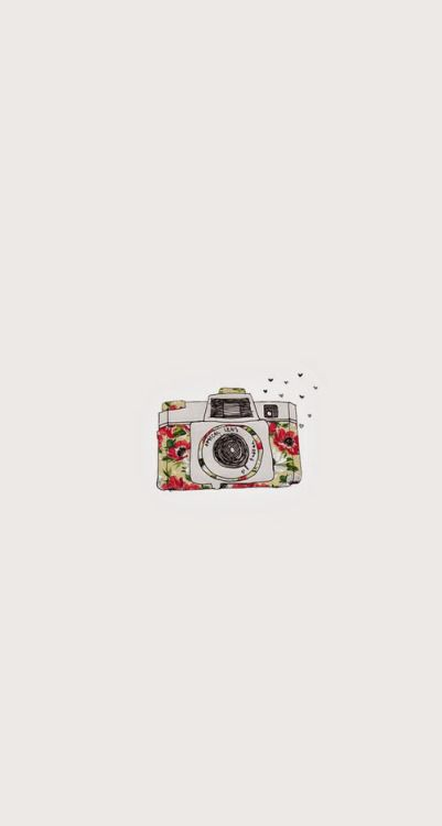 Floral Camera ★ Find more minimalistic Android + iPhone wallpapers @prettywallpaper