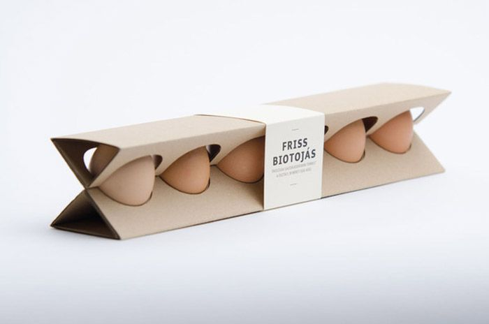 Modern egg box design. Trendy but also holds the eggs perfectly