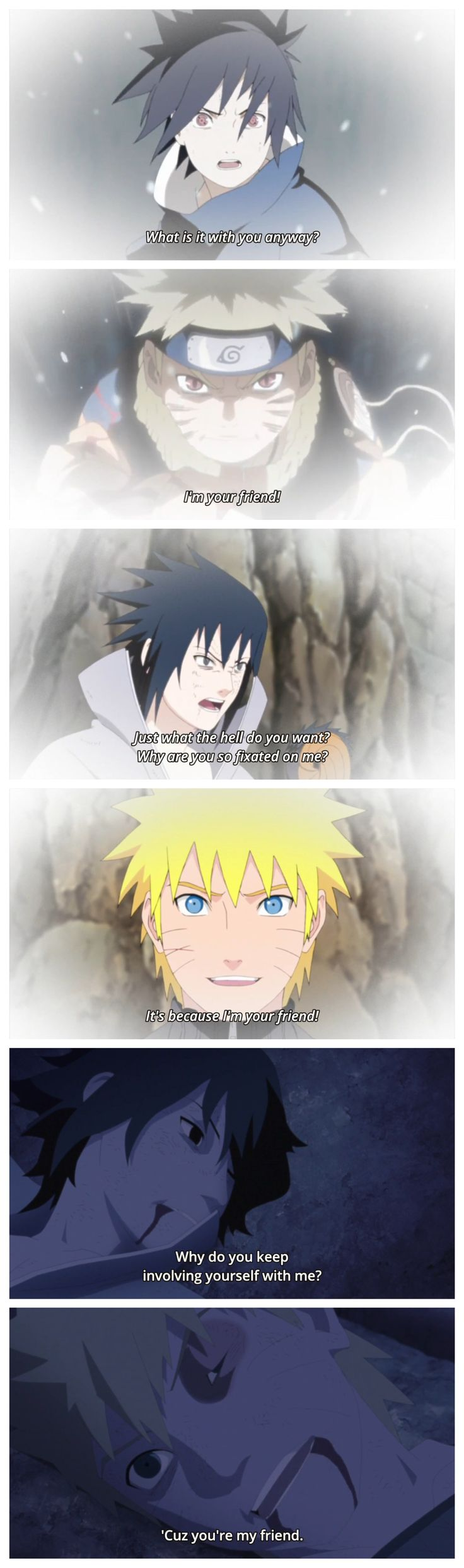 Naruto and Sasuke. Sasuke and Naruto are realy best frends! Love this scenes #naruto #shippuden