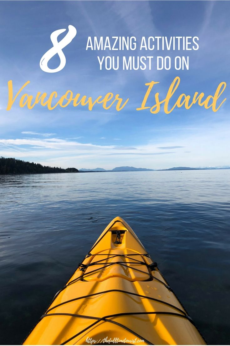 If you're looking to experience the best nature in Canada, Vancouver Island goes above and beyond any other recommendations you may hear. With plenty of sea kayaking expeditions, hiking trips, stunning national parks, beautiful gardens, Grizzly Bear excursions, and orca & humpback whale sighting, you'll never run out of outdoor activities! Here are 8 outdoor activities you need to to in Vancouver Island, according to top travel bloggers. The Full-Time Tourist, 2017 © Victoria | Tofino…