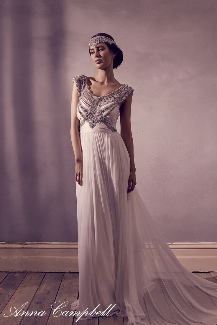 Anna Campbell Giselle dress and Blossom headpiece. www ...