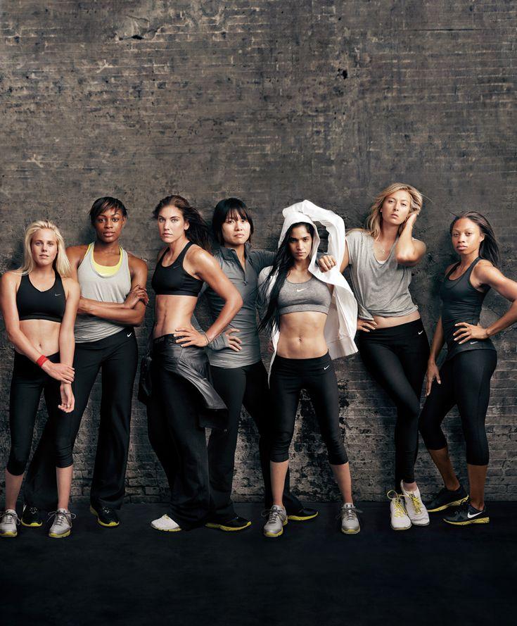 nike women's spokesladies. some intense athletes there!