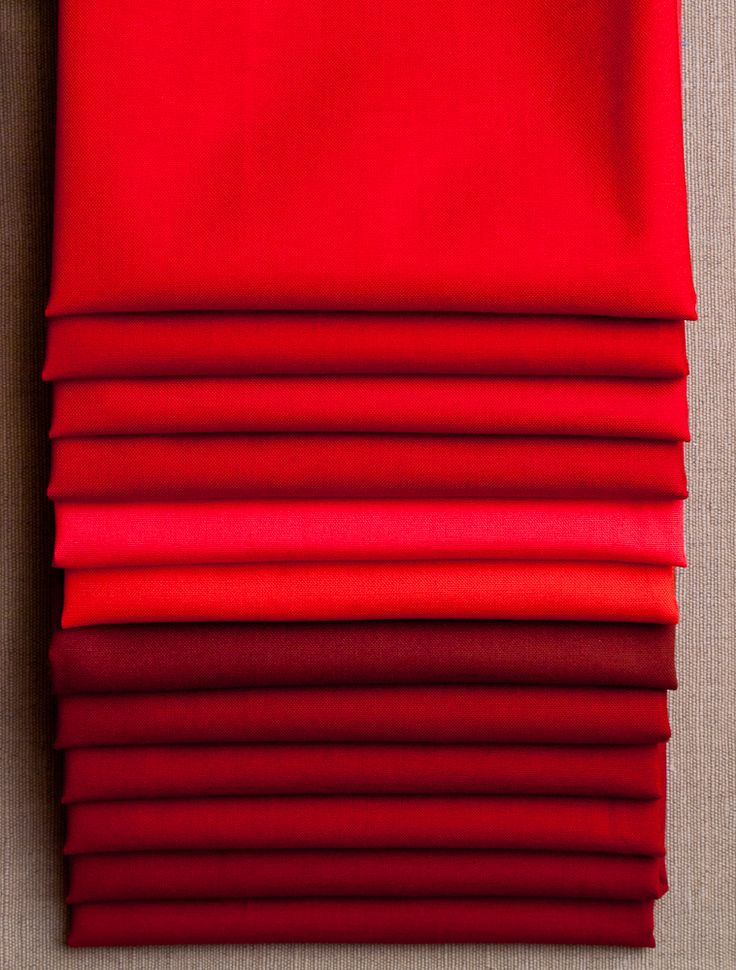 Red fabric samples