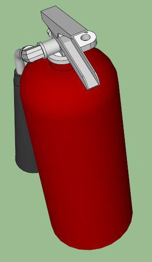 3D Model Co2 Extinguisher Fires - 3D Model