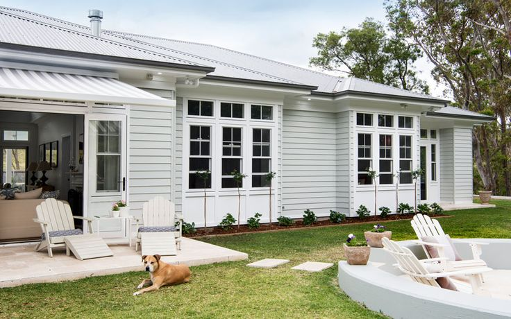 Dulux Spanish Olive  An authentic Hamptons haven for a growing family | Case Studies | Scyon Wall Cladding And Floors