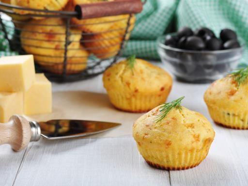 Muffin salé maïs d'aucy et olives noires