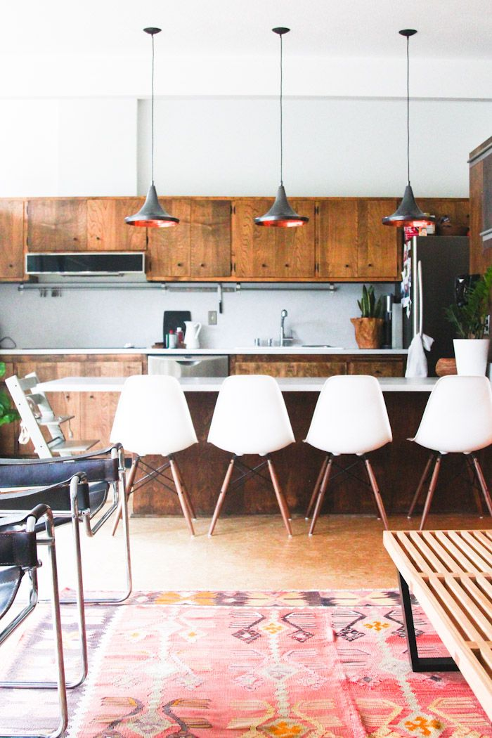 everyone likes to sit at the kitchen counter :: mid century seating