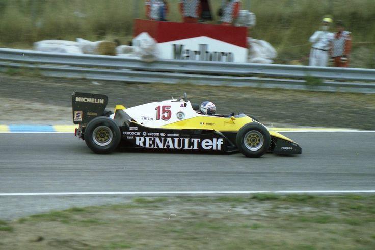 Alain Marie Pascal Prost (FRA) (Equipe Renault Elf), Renault RE40 - Renault Gordini EF1, 1.5 V6 (t/c) (RET) 1983 Dutch Grand Prix, Circuit Zandvoort © Renault Sport F1/Cor van Veen | Source: Flickr