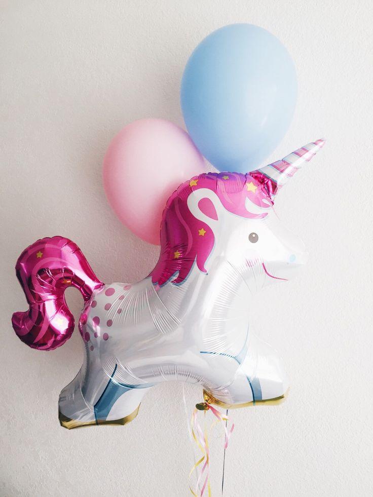 Unicorn Balloon Trio - JUMBO mylar unicorn party balloon by OhShinyPaperCo on Etsy https://www.etsy.com/listing/209538662/unicorn-balloon-trio-jumbo-mylar-unicorn