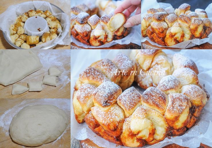 Monkey bread pane di scimmia ricetta dolce facile vickyart arte in cucina