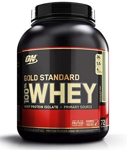 Optimum Nutrition Gold Standard 100% Whey Protein Powder Chocolate Mint 5 Pound