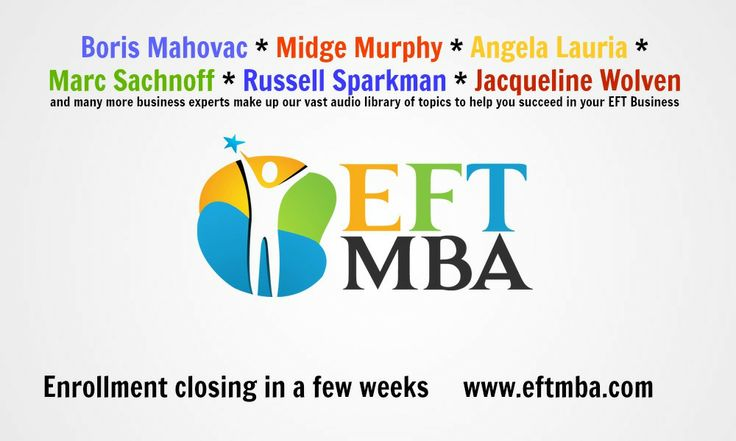 #EFT coaches need solid advice from proven business experts - we've gotcha covered! http://www.eftmba.com