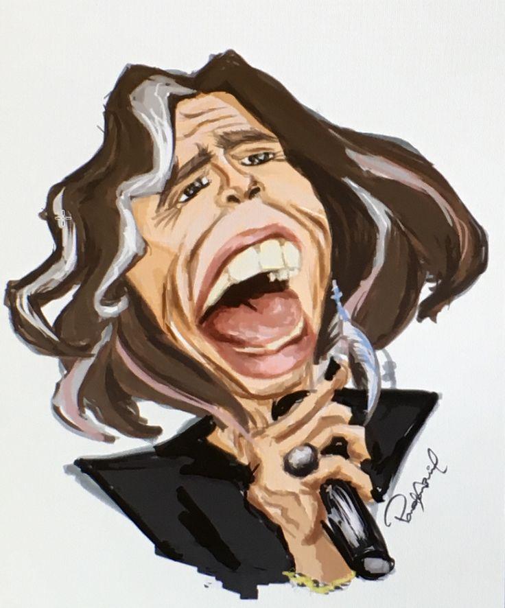 #SteveTyler #Aerosmith #Caricature #MadeatVanarts