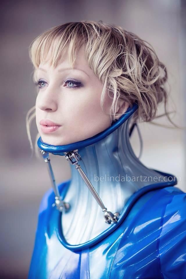 Fetish neck brace corset hot
